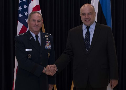 Estonian Minister of Defence Jüri Luik met with Gen. David Goldfein, U.S. Air Force Chief of Staff